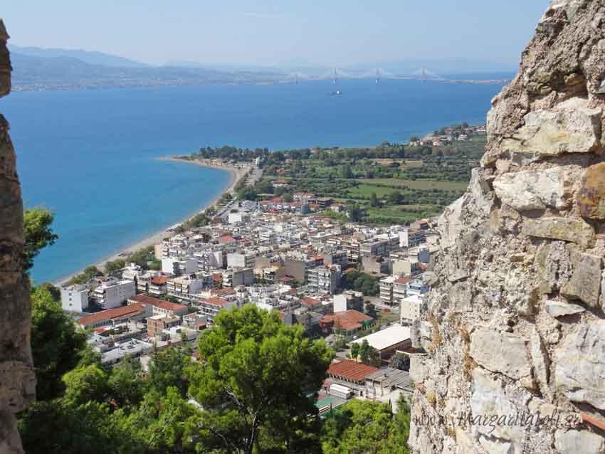 Η θέα από το Κάστρο της Ναυπάκτου