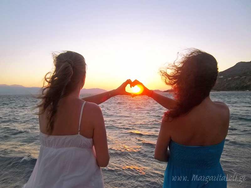 Ρομαντικό ηλιοβασίλεμα