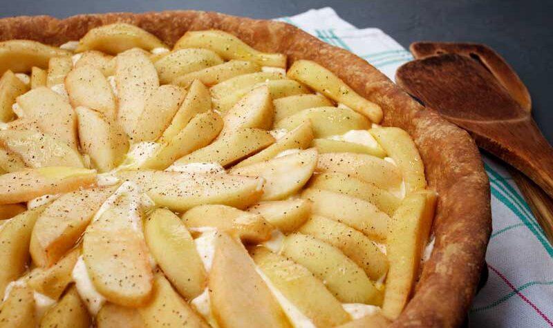 ανάποδη μηλόπιτα